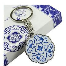 Chinese Style Durable Key Chain Flower Car Key chain Elegant Gift Round Shape