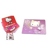 Hello Kitty Mousepad with Travel School Mousepad Hello Kitty 3-D Sticker... - $8.88