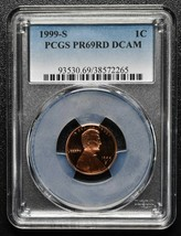 1999S Lincoln Cent PR69RD DCAM PCGS Coin SKU C103