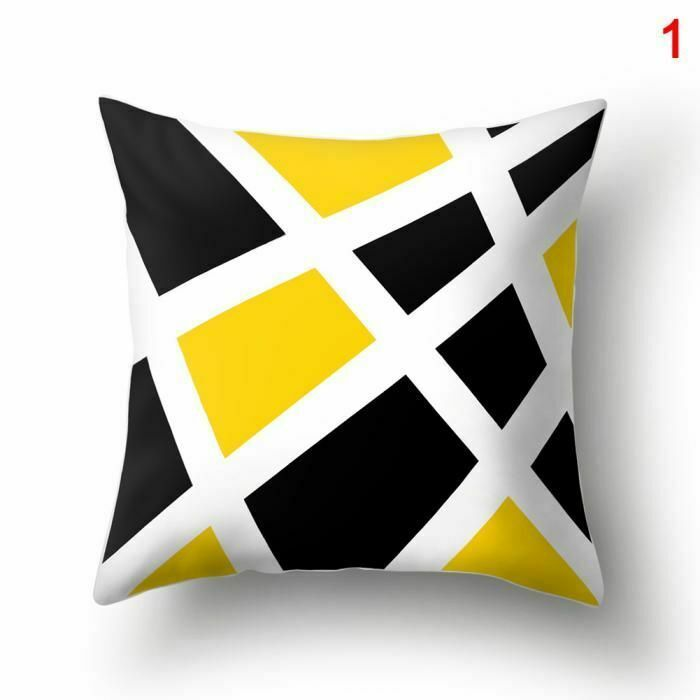 Pillow Case Cover Sofa Couch Bed Car Simple Style Decorative Home Decor Gifts