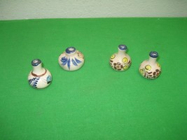 Assortment of 4 Southwestern Ceramic American Indian Miniature Pots - $9.46