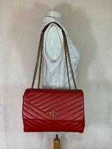NWT Tory Burch Red Apple Kira Chevron Convertible Shoulder Bag  - $512.82