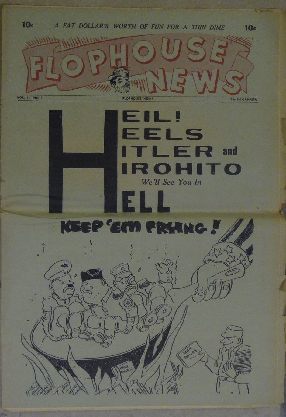 Primary image for FLOPHOUSE NEWS #1 1940'S-1ST ISSUE-PARODY-NEWSPAPER SIZE-SOUTHERN STATES-vg