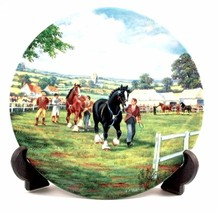 At The Horse Show The Village Shires Stan Mitchell Horse Plate CP419 - $38.25