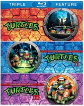 Teenage Mutant Ninja Turtles Triple Feature (Blu-ray Disc, 2012, 3-Disc Set)
