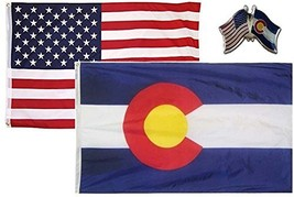 ALBATROS USA with State of Colorado 3 ft x 5 ft 3x5 Flag with Lapel Pin ... - $31.01
