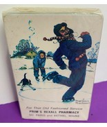 Norman Rockwell Rexall Pharmacy Playing Cards Deck Prims So Paris Bethel... - $9.49