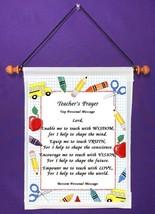 Teacher's Prayer - Personalized Wall Hanging (474-1) - $18.99