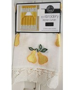 "3 pc. Embroidery Curtains Set:2 Tiers (30""x36"") & Swag (60""x36"") YELLOW ... - $19.79"