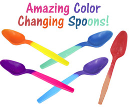 FUN! Color Changing Spoons, Party Favorites Reusable Recyclable Eco Frie... - £5.74 GBP+