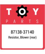 87138-37140 Toyota Resistorblower, New Genuine OEM Part - $22.34