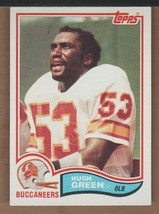 HUGH GREEN 1982 TOPPS TAMPA BAY BUCCANEERS  R/C  #500  CARD IS EX++ - $2.50