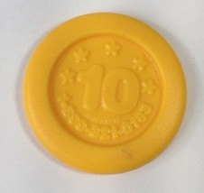 Little Tikes Yellow Coin Toy Round Dime 10 Stars Pretend Play Register K... - $9.74