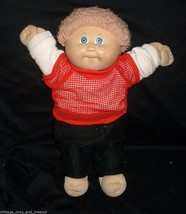Vintage Cabbage Patch Kids Baby Doll Boy Blonde Hair Stuffed Animal Plush Toy M - $29.92