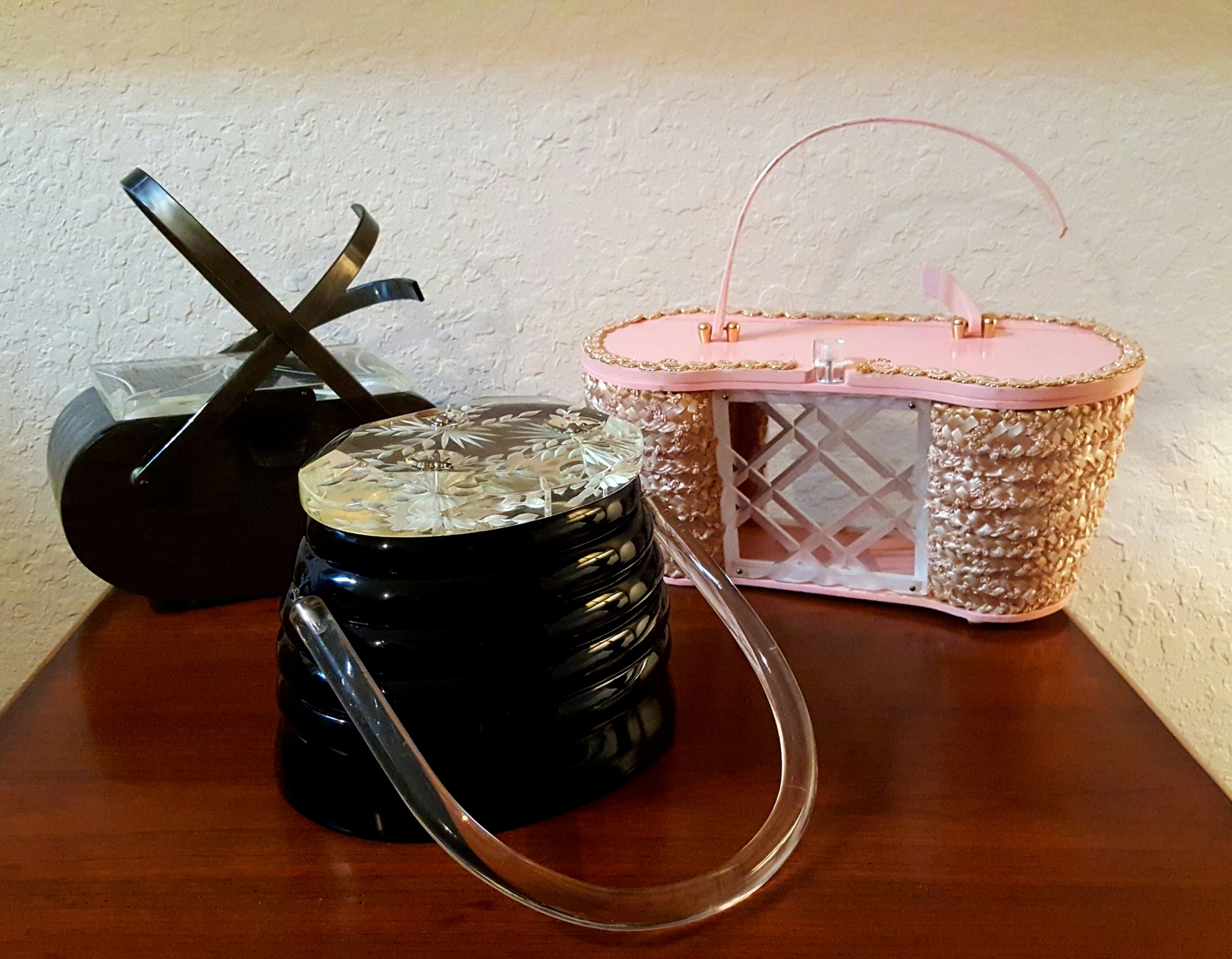 Mid Century Designer Lucite Purse Bundle for Repair Restoration or Parts