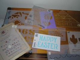 Lot of Simply Quilting Stencils by Plaid Rose HEARTS Pumpkin NUMBERS Cac... - $7.69