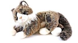 "2002 Ty Classic Plush 12"" O'MALLEY CAT Kitty White Brown Gray stuffed an... - $16.36"