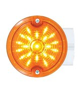 """United Pacific 31210 Amber Lens 21 LED 3 1/4"""" Round Harley Signal Light ... - $49.45"""