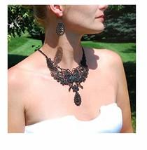 Lillian Rose Black Wedding Jewelry Butterfly Necklace Earrings - $36.68