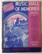 Bing Crosby's Music Hall of Memories Sheet Music 1942 21 Songs - $12.86