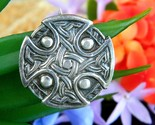 Vintage celtic iona cross shield knots sterling silver brooch pin wjs thumb155 crop