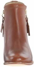 "NEW 1883 by Wolverine Womens Ella Brown Tan Leather 5"" Side Zip Ankle Bootie NIB image 2"