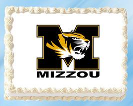 "Missouri Tigers Edible Image Topper Cupcake Cake Frosting 1/4 Sheet 8.5 x 11"" - $11.75"