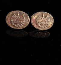 Antique Cufflinks sterling Eye of Providence / Patriotic Great seal of U... - $250.00