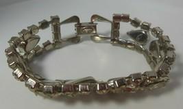 Vintage Signed WEISS Clear Rhinestone Bracelet - $85.00
