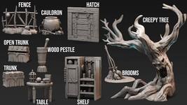 Set - Orc - Base - Ancient - 3D - Printed HQ - Resin Miniature - Unpainted - Dun - $49.00