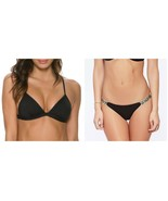 NWT L SPACE M swimsuit bikini 2PC you animal you nomad itsy bitsy black ... - $106.69