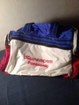 Vintage Panasonic Supercam Camera Camcorder Travel Bag Red White Blue (bc1) - $28.04