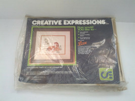 vintage 1984 crewel kit friendly foal picture  creative expressions bran... - $14.85