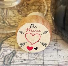 Wine Stopper, Be Mine, Heart Handmade Wood Bottle Stopper, Valentine's Day - $8.86