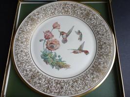 LENOX BOEHM BIRDS Rufous Hummingbird Porcelain Plate 24-karat Gold - $19.79