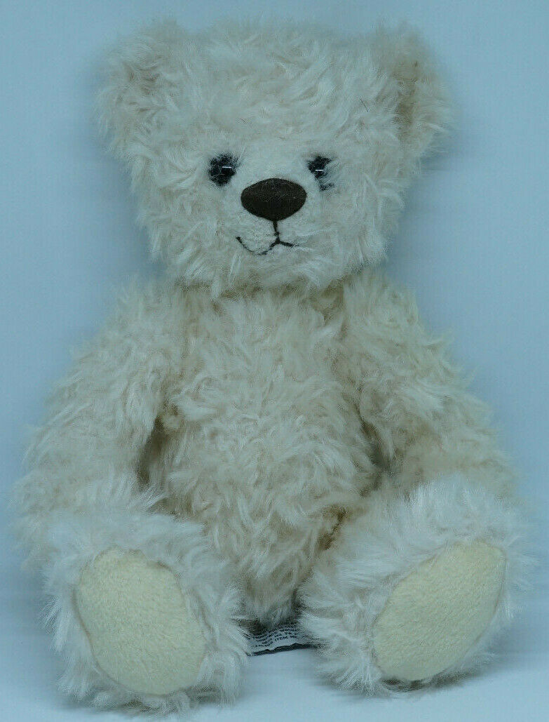 "Primary image for RUSS BERRIE ""Choccie"" Plush Teddy Bear Fluffy Cream Stuffed Toy ~13″ Item 85332"