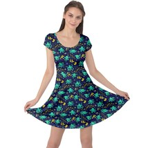 Women's Funny Octopus Print Elastic Fit & Flare Cap Sleeve Dress (XS-5XL, Blue) - $28.99+