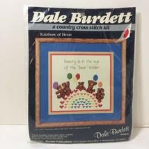 "Rainbow of Heart Cross Stitch Kit Dale Burdett 12.75"" x 12.25"" Bears - $9.74"