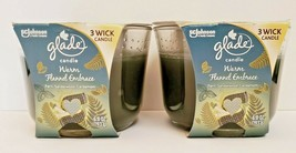 2X Glade Warm Flannel Embrace Limited Edition 3 Wick Large Candle 6.8 oz - $28.45