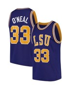 Shaquille O'Neal #33 College Custom Basketball Jersey Sewn Purple Any Size - $29.99+