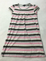 Gap Kids Girls XXL 14 The Dance Ballet Pink Gray White Stripe Velour Dress - $12.99