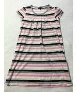Gap Kids Girls XXL 14 The Dance Ballet Pink Gray White Stripe Velour Dress - $12.99