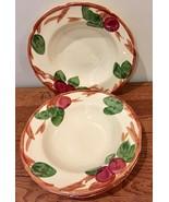 Franciscan Apple Set of 2 Rimmed Soup Bowls Vintage England Backstamp - $37.39