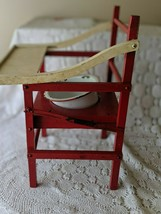 Wooden Red White Vintage Potty Chair With Chamber Pot Kids Baby image 2