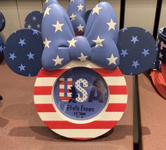 Disney Parks Minnie Mouse USA Stars and Stripes Photo Frame NEW - $39.90