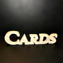 Cards Sign Unfinished Wood Stand Alone Style 1 Stk No. C-1-.75-4-LC-SA - $5.00