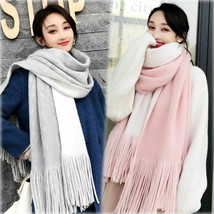 High Quality Knit Comfortable Warm Thick Long Scarf Women Tassel Outdoor... - $25.47