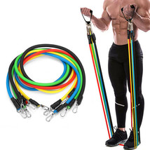 11PCS Multifunctional Resistance Bands Set Home Fitness Stretch Training... - $41.43