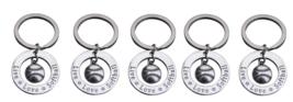 5 Live Love Softball Keychains Bundle for Girls - $40.00