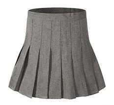 Beautifulfashionlife Women's Pleated Mini Sexy Short Skirt Costumes (XL,Grey Mix - $25.73
